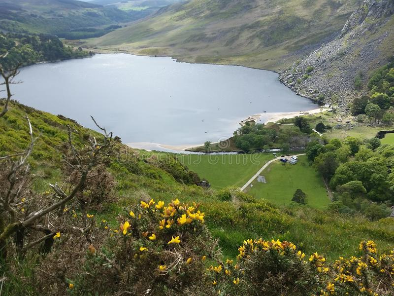 Loch Tay lake in Wicklow Mountain National Park royalty free stock photography