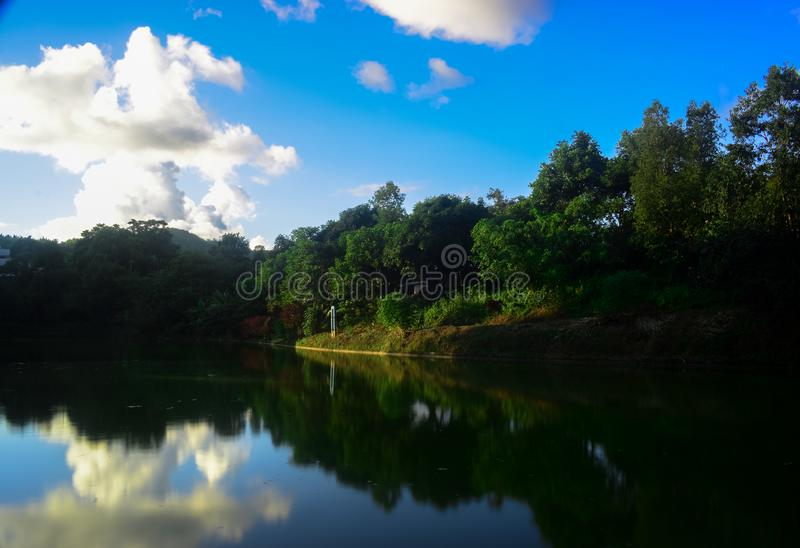 Beautiful lake in the forest. Nature, landscape, photography, serchhip, mizoram, india, asia royalty free stock photography