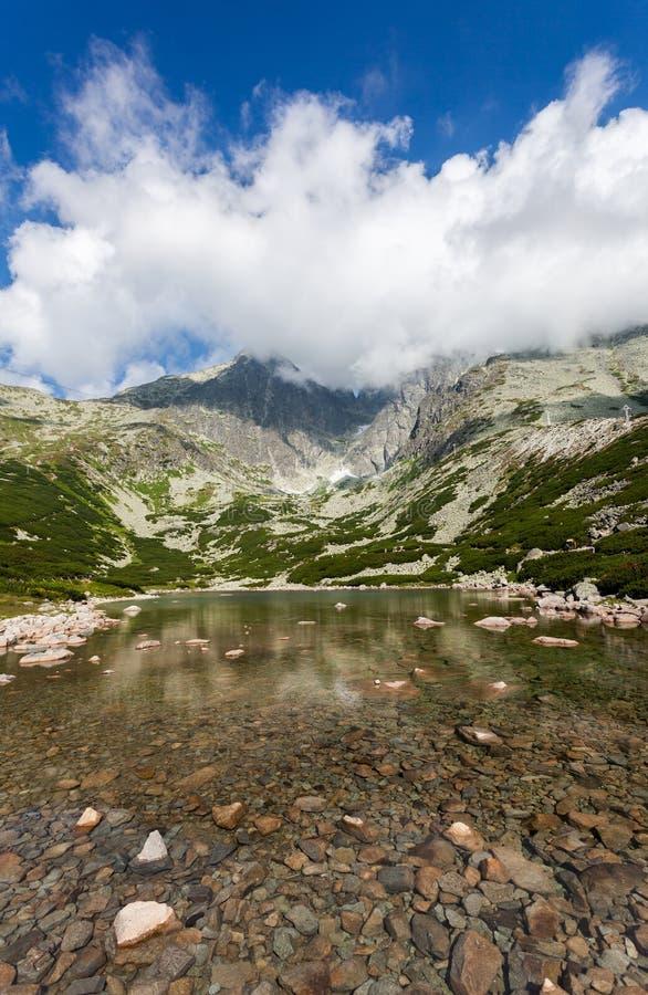 Beautiful Lake In High Tatras - Skalnate Pleso Stock Photo