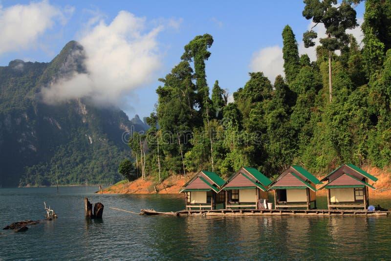 Beautiful Of Lake Khao Sok National Park. Stock Photo