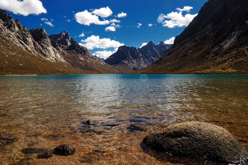 A beautiful lake and mountain stock images