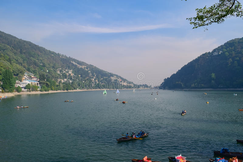 Beautiful lake of Nainital Uttrakhand. Nainital is a major tourist attraction in Kumaon region of Uttrakhand stock images