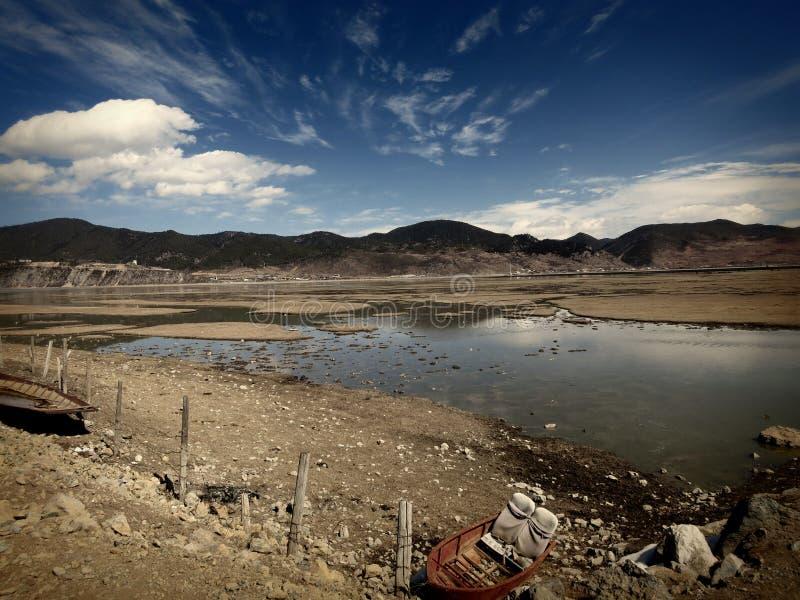 Beautiful lake near Shangrila in Yunnan royalty free stock photo