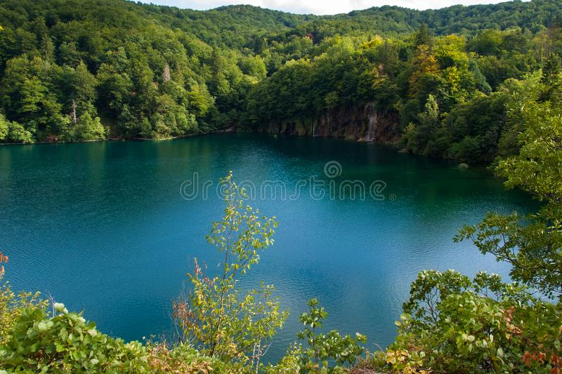 Beautiful Lake, Plitvice Lakes, National Park, Forest, Croatia. Lake in National park of Plitvice Lakes situated in Northern Croatia. Picture was taken during stock photography