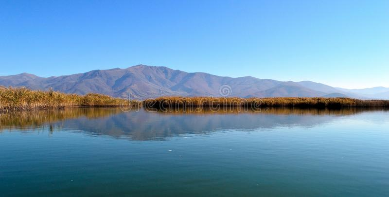 Beautiful lake scape stock images