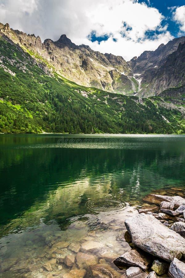 Beautiful lake in Tatra Mountains stock photo