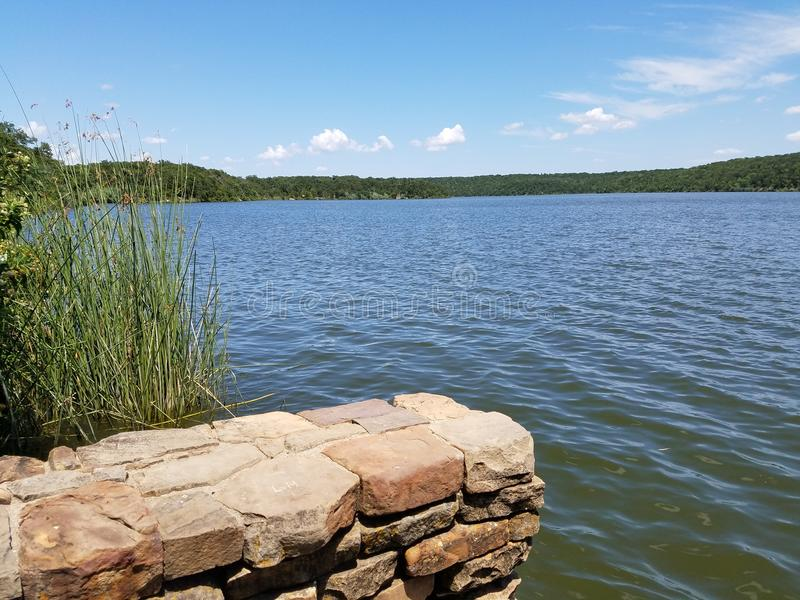 Beautiful Lake View at Mineral Wells State Park - Texas royalty free stock image