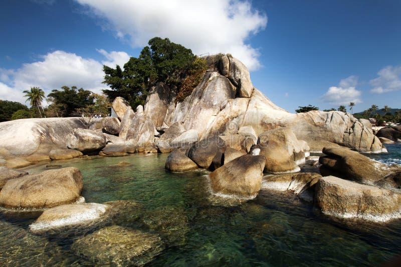 Beautiful Lamai beach, Ko Samui, Thailand. Exotic holiday background royalty free stock photo
