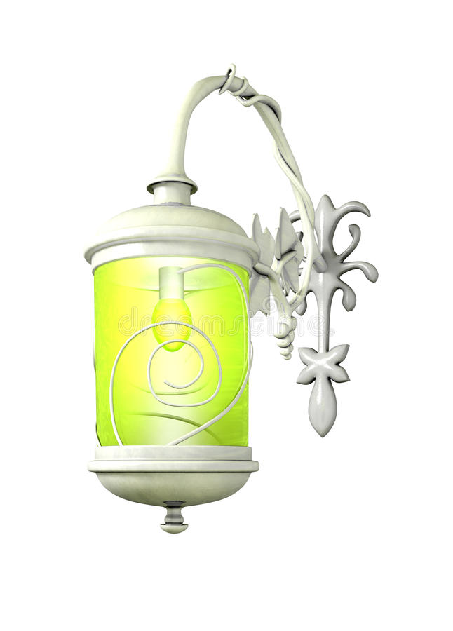Download Beautiful Lamp On The White Background Stock Illustration - Image: 13288253