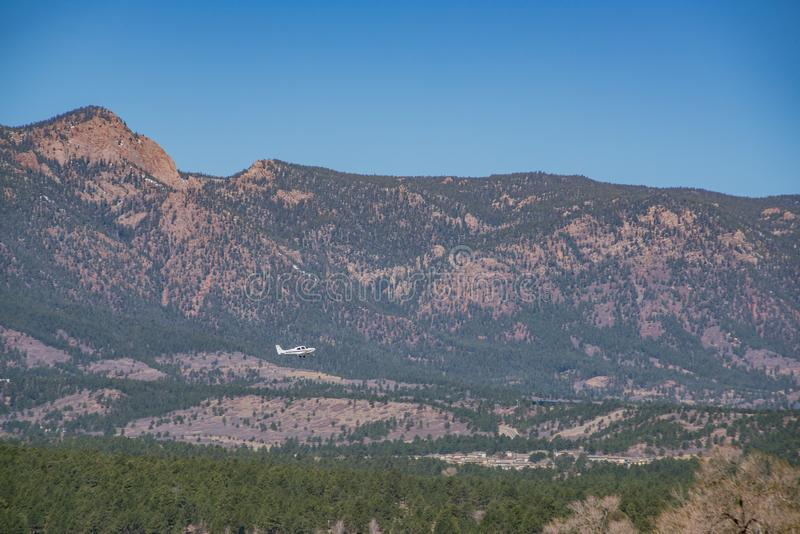 The beautiful landscape from the Ackerman Overlook. Colorado Springs, Colorado royalty free stock image