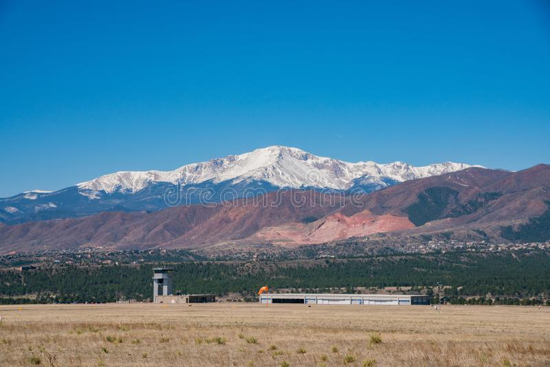 The beautiful landscape from the Ackerman Overlook. Colorado Springs, Colorado stock photography