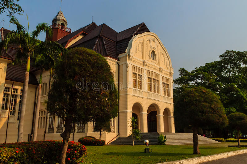 Beautiful Landscape and Architecture of Phra Ramratchaniwet Palace (Wang Ban Peun), former the king Rama 5 palace, one of the mai. N public tourist attractions stock image