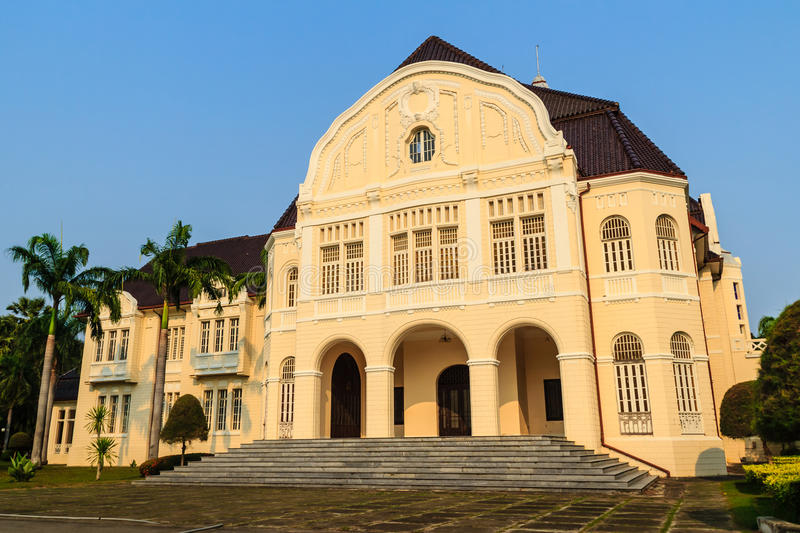 Beautiful Landscape and Architecture of Phra Ramratchaniwet Palace (Wang Ban Peun), former the king Rama 5 palace, one of the mai. N public tourist attractions stock images
