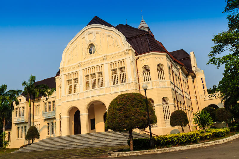 Beautiful Landscape and Architecture of Phra Ramratchaniwet Palace (Wang Ban Peun), former the king Rama 5 palace, one of the mai. N public tourist attractions stock photography