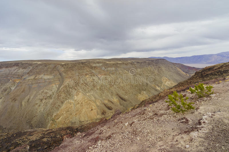 Beautiful landscape around Padre Crowley Point. Death Valley National Park royalty free stock photography