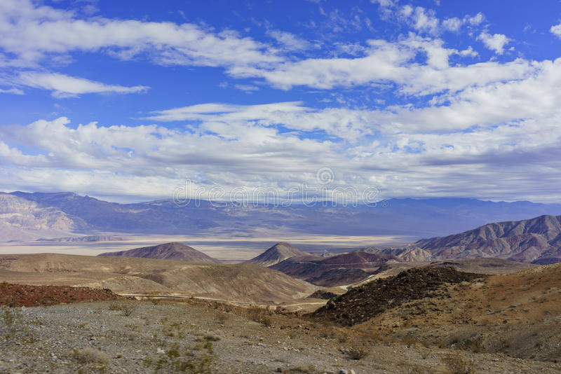 Beautiful landscape around Padre Crowley Point. Death Valley National Park stock photography