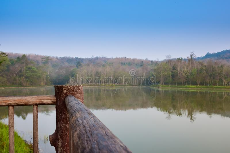 A beautiful landscape around a river in the morning time stock images