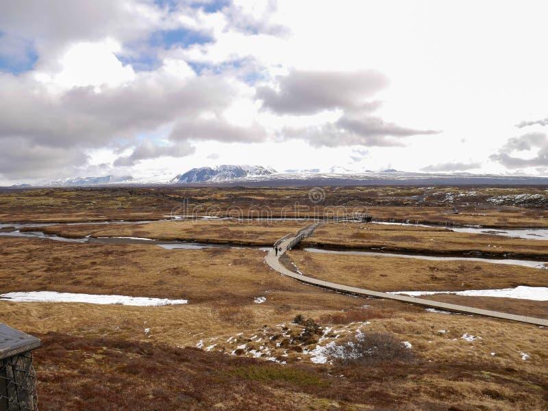 Beautiful landscape around Thingvellir National Park. At Iceland stock image