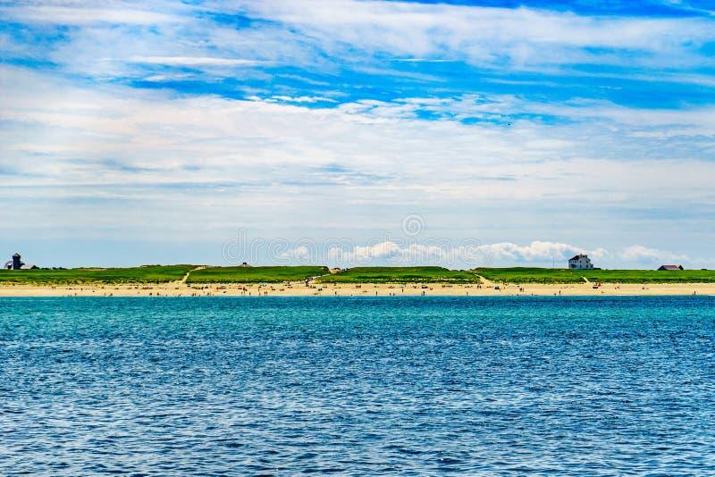 Beautiful landscape of Atlantic ocean beach Cape cod Massachusetts. US stock photo
