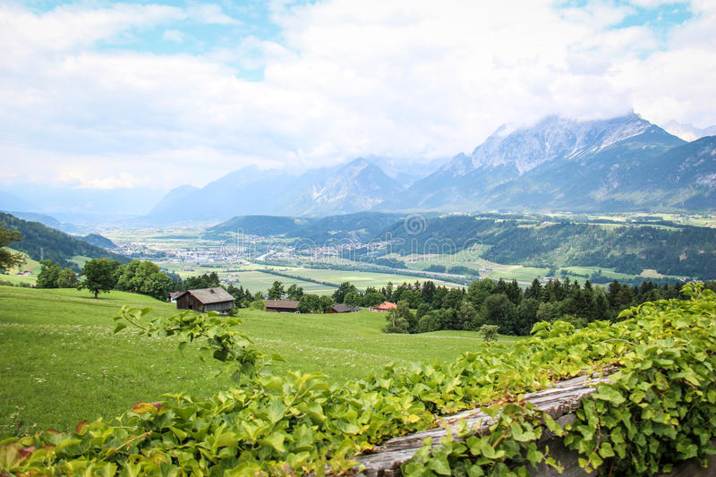 Beautiful Landscape in the Austrian Alps stock photography