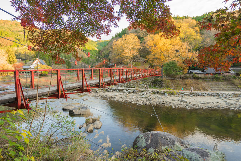 Beautiful landscape in autumn at Korankei, Japan stock image