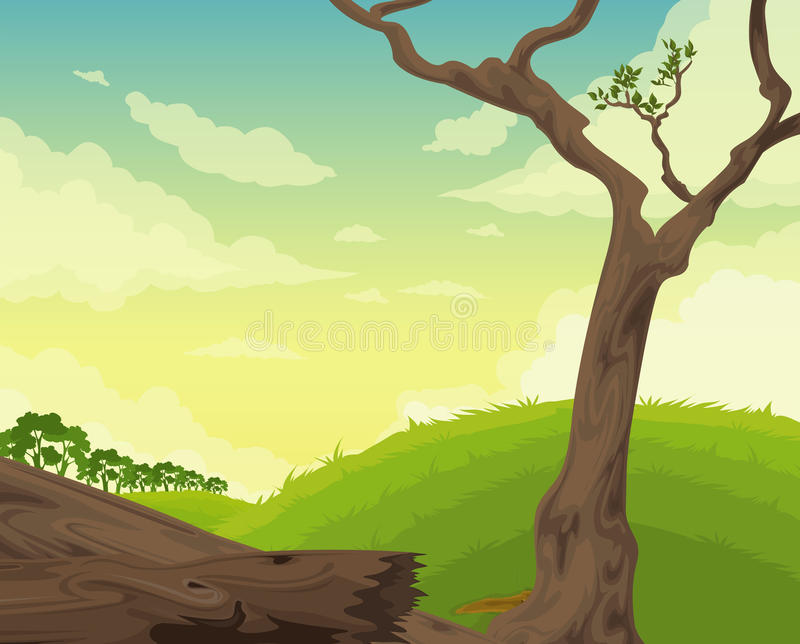 Beautiful Landscape Background Vector Royalty Free Stock Photography