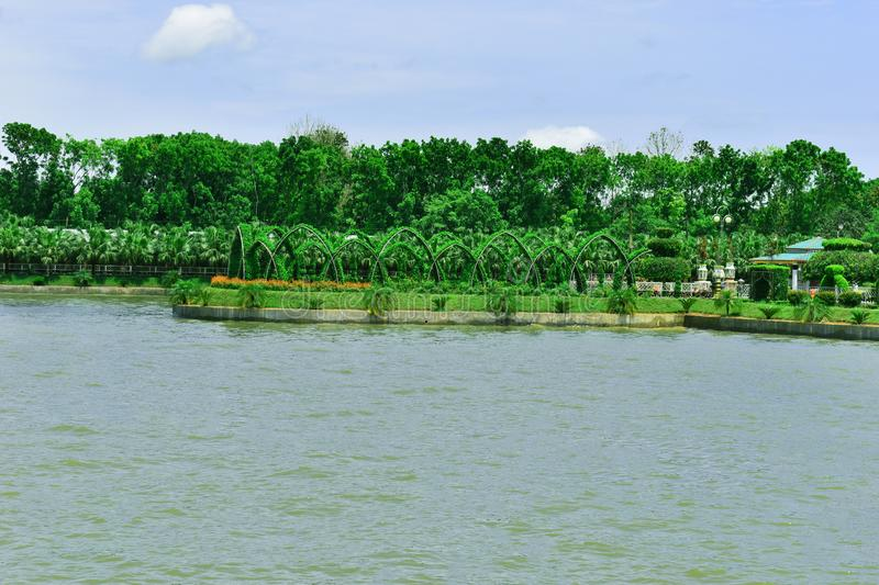 The Beautiful Landscape in Bangladesh. The landscape was utterly alien yet made all the more heartbreaking by the familiar debris under our boots royalty free stock photo