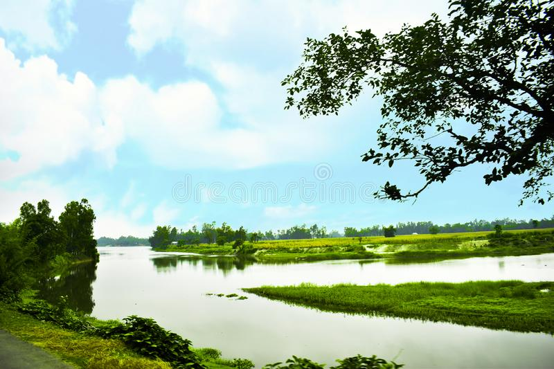 The Beautiful Landscape in Bangladesh. The landscape was utterly alien yet made all the more heartbreaking by the familiar debris under our boots royalty free stock images