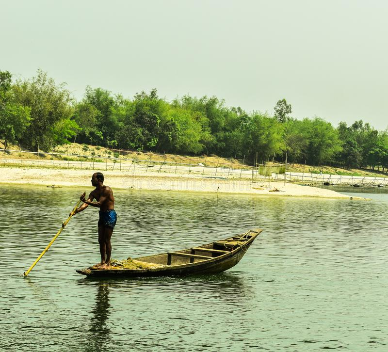 The Beautiful Landscape in Bangladesh. The landscape was utterly alien yet made all the more heartbreaking by the familiar debris under our boots royalty free stock image