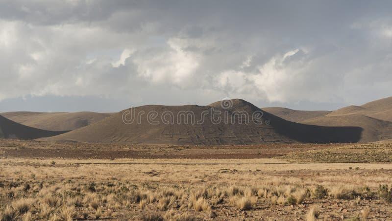 The beautiful landscape of Bolivia along the road to La Paz, Bolivia stock image