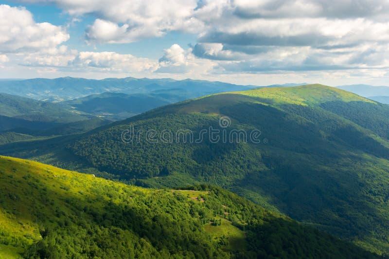 Beautiful landscape of carpathian mountains royalty free stock photo