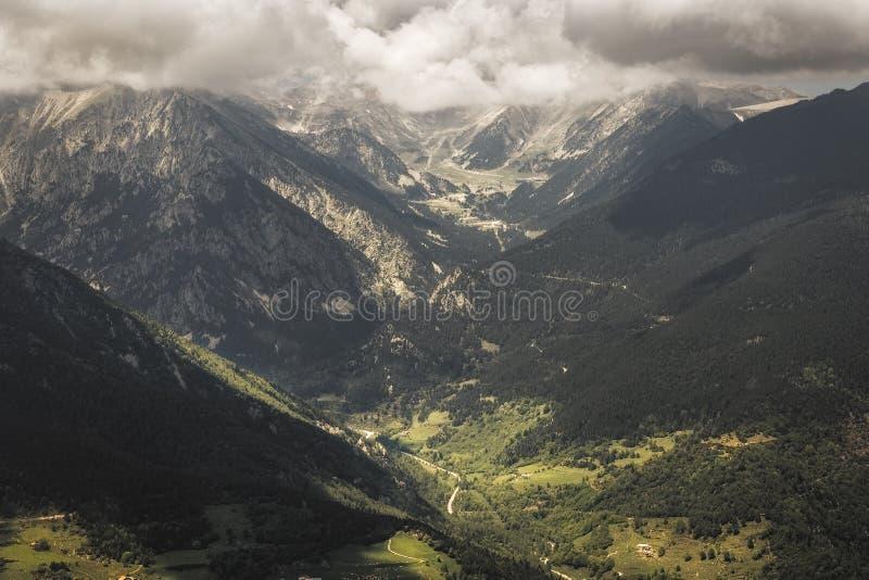 Beautiful landscape, Catalan Pyrenees royalty free stock image