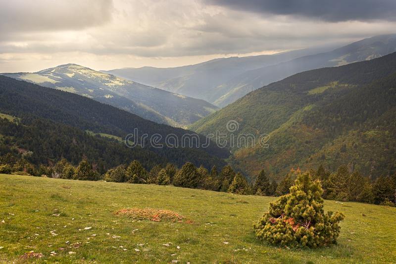 Beautiful landscape, Catalan Pyrenees royalty free stock photography