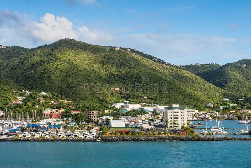 Beautiful landscape of the coastline of the British Virgin Islands stock image