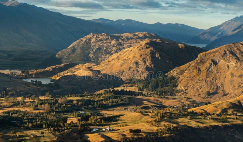 Beautiful landscape of Coronet Peak  Queenstown stock images