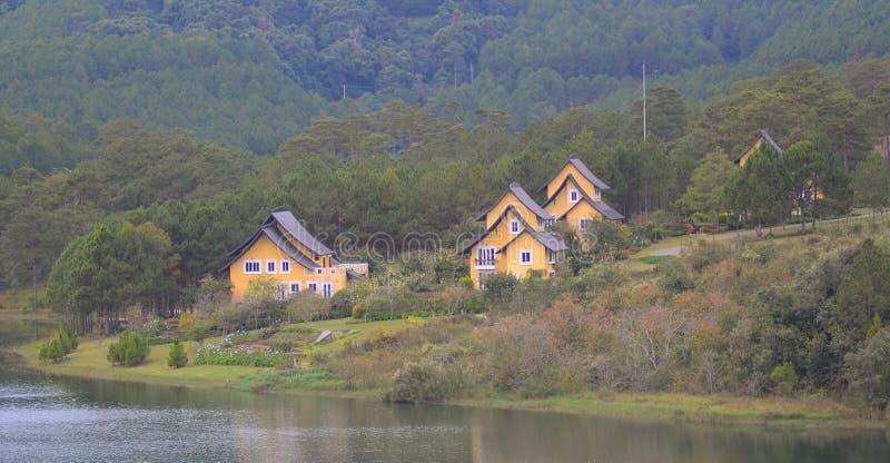 Beautiful landscape at Dalat village royalty free stock photography