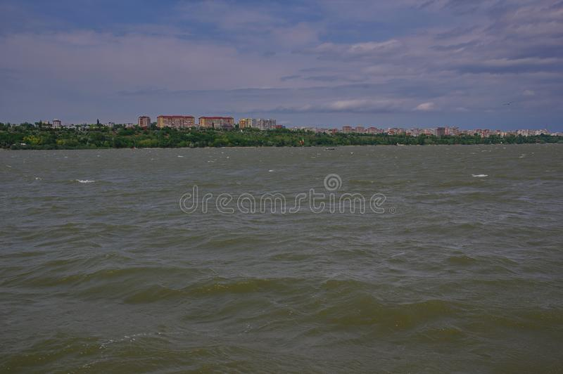 Tulcea city and the Danube river 5 royalty free stock photos