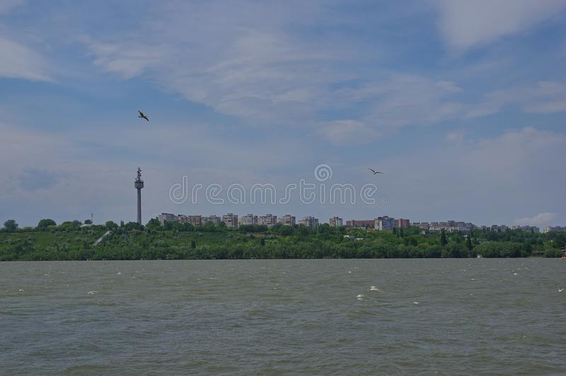 Tulcea city and the Danube river 8 royalty free stock images
