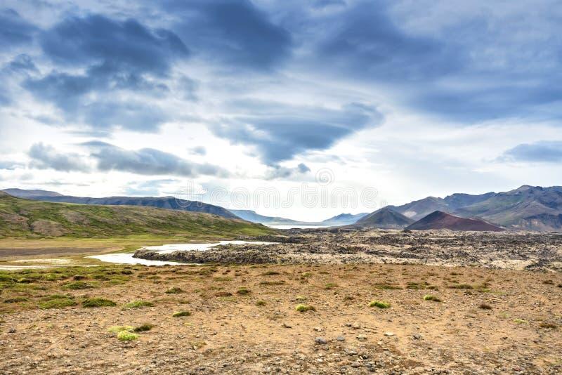 Beautiful landscape desert and mountain, Iceland royalty free stock photo