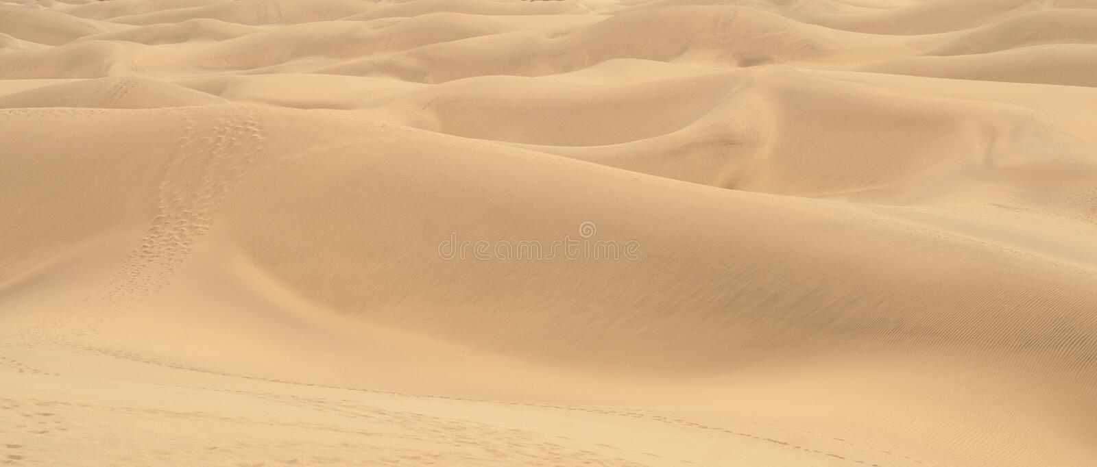 Beautiful landscape with dunes of Gran-Canaria, Canarian island royalty free stock photography