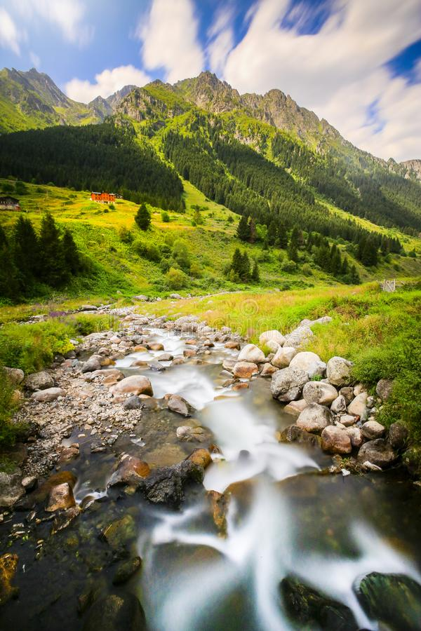 A beautiful landscape from the Elevit uplands of Rize in Black Sea region of Turkey.  stock images