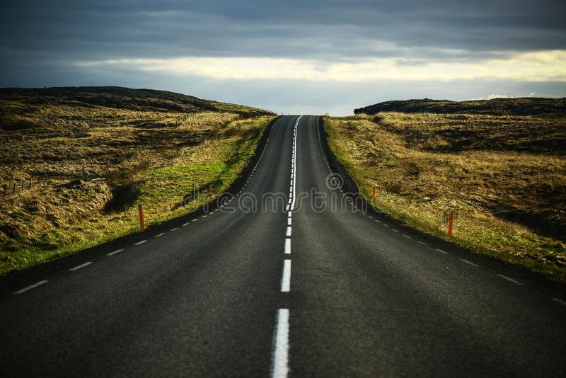 Beautiful landscape of empty highway road stock photography