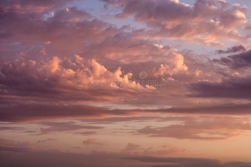 Beautiful landscape of the evening sky. The sunset of the autumn sun. royalty free stock photo