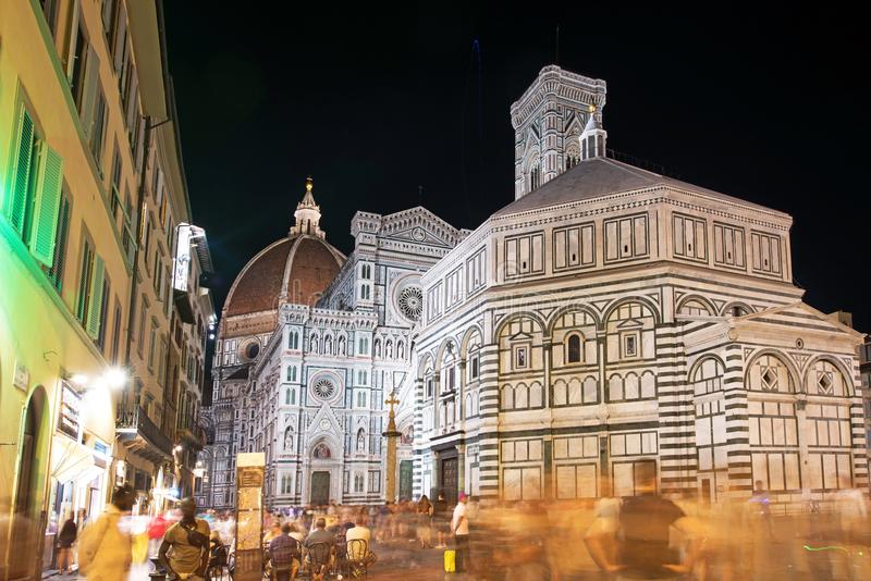 Beautiful landscape fabulous view of famous Florence Duomo Cathedral, Basilica di Santa Maria del Fiore (Basilica of Saint Mary o royalty free stock image