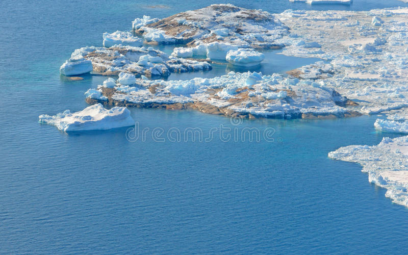 Beautiful Landscape in Greenland. With ice, snow and water. Global warming stock images