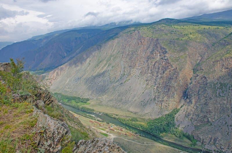 Beautiful landscape high stone mountains Altai Russia stock photo
