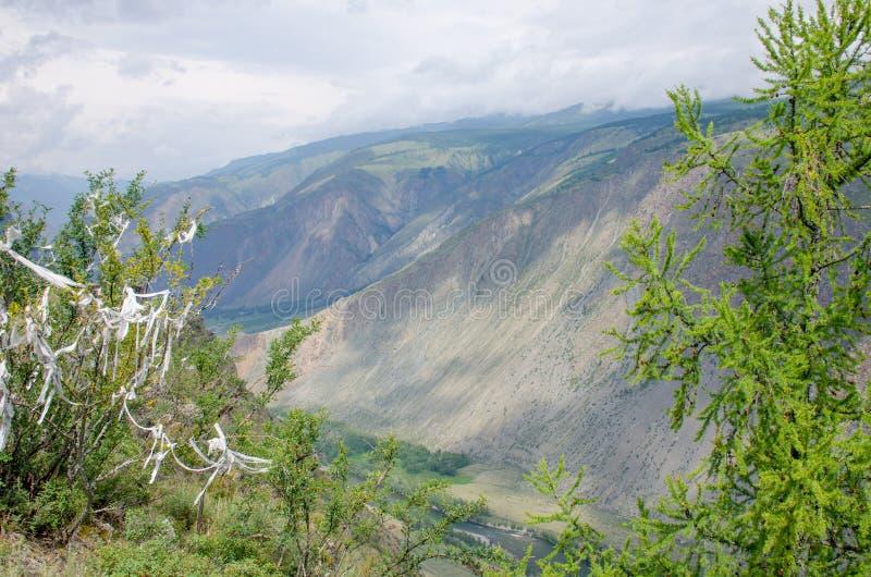 Beautiful landscape high stone mountains Altai Russia stock photos