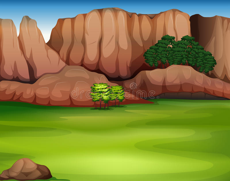 A beautiful landscape vector illustration
