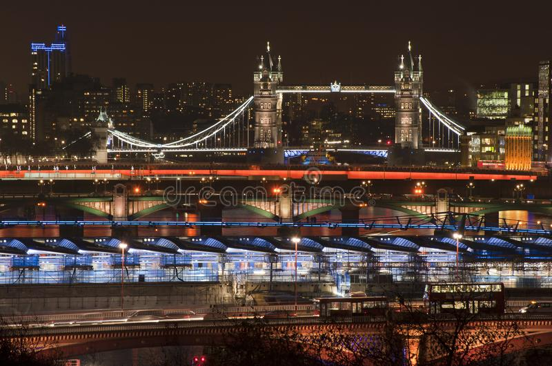 Download Beautiful Landscape Image Of The London Skyline At Night Looking Stock Photo - Image of landmark, ferris: 111765104