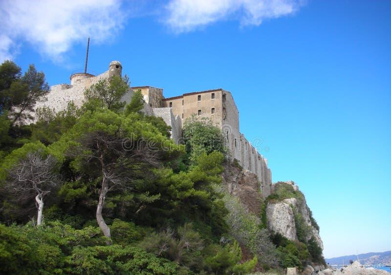 Beautiful landscape of island Sainte-Marguerite royalty free stock images